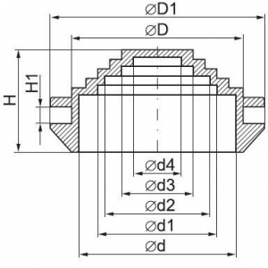 Кабельный ввод-сальник d32 мм IP55